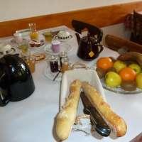 Petit déjeuner à la ferme auberge du Ban de la Roche à Bellefosse, proche du Champ du Feu
