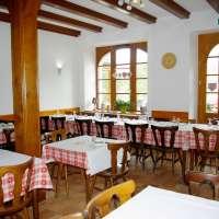 Une des deux salles de la Ferme Auberge du Ban de la Roche, proche du Champ du Feu
