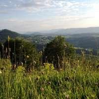 Vue sur la haute vallée de la Bruche du Champ du Feu
