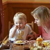 Déjeuner en famille, Auberge du Climont à Ranrupt